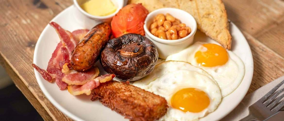 Full English at Whyte and Brown, Chicken Shop, Sunday Brunch, Brunch in London