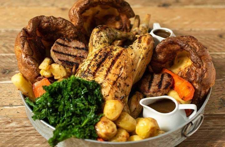 Roast at Whyte and Brown, Chicken Shop, Sunday Brunch, Brunch in London