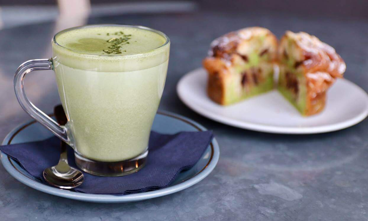 Matcha Latte at Aubaine Mayfair