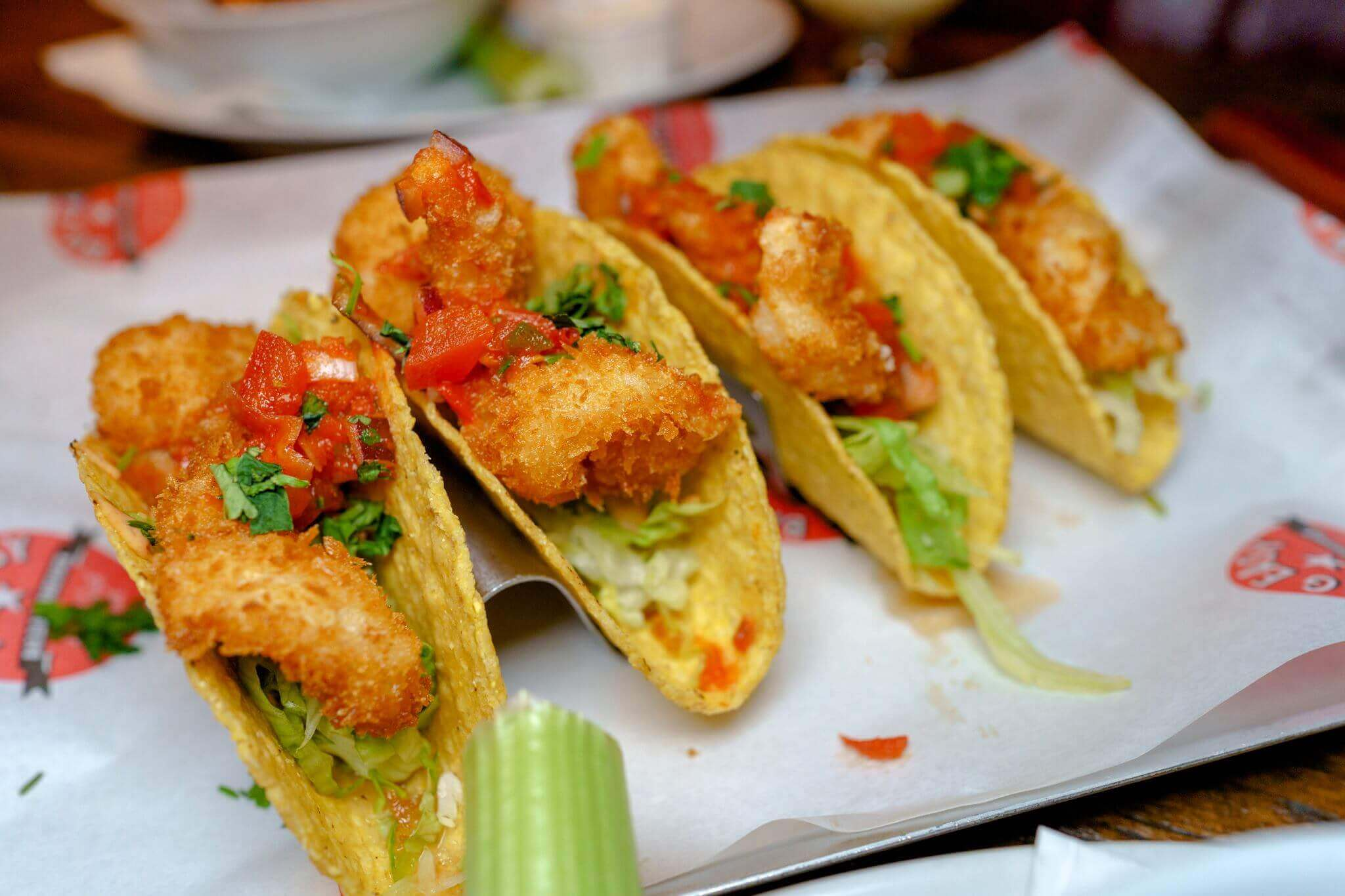 Shrimp Tacos at Big Easy in Covent Garden, Kings Road, Canary Wharf