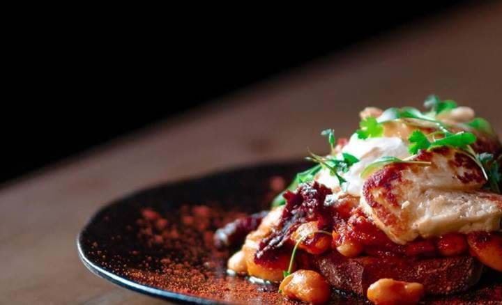 Halloumi and Butterbeans on Toast Clockworks, Breakfast, Brunch, British, Sunday Roast, Traditional Roast, Sunday Lunch
