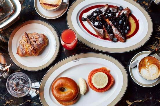 Brunch Spread at The Wolseley