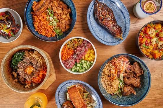 Bowls Soho London Bottomless Brunch Large Group Overhead