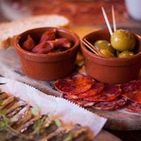 Tapas selection at La Vina