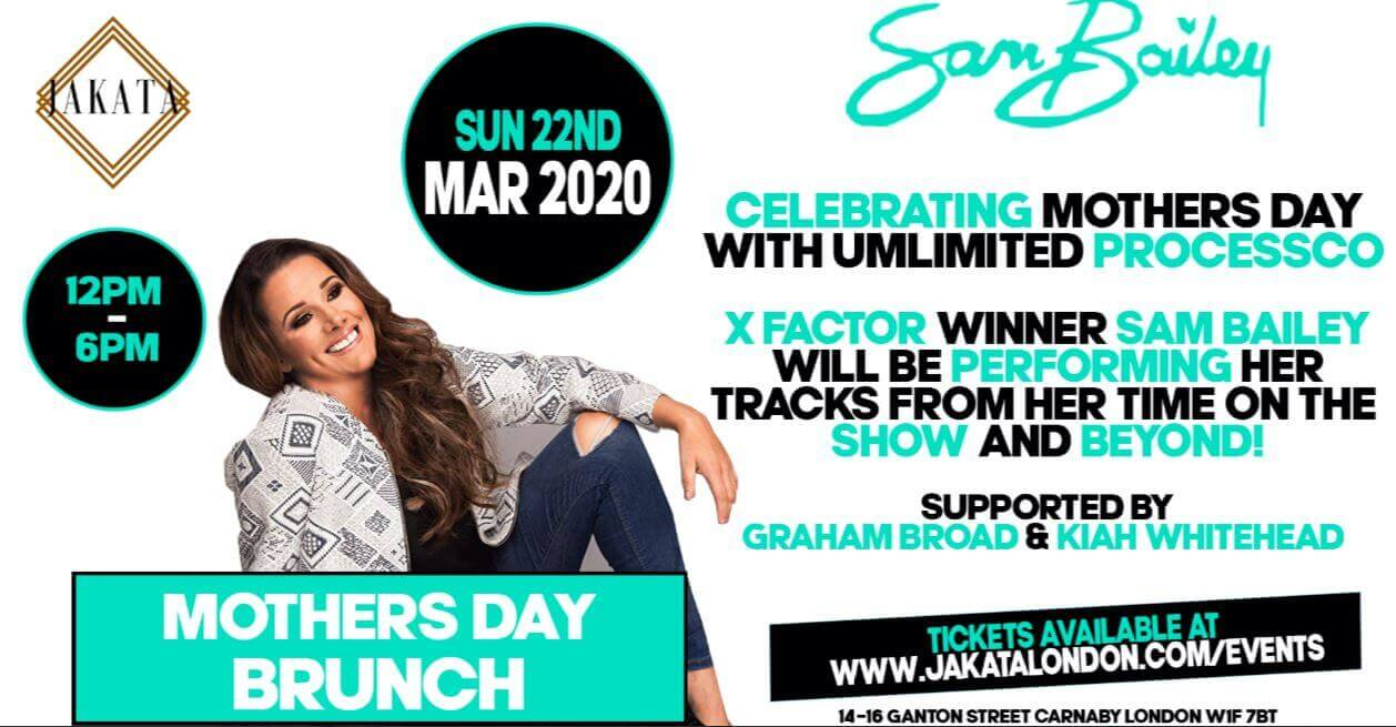 Mother's Day Brunch with Sam Bailey