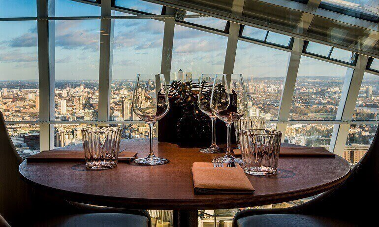 Bottomless Brunch in London, Brunch in London, Sky Garden at Darwin Brasseries, Brunch with a View