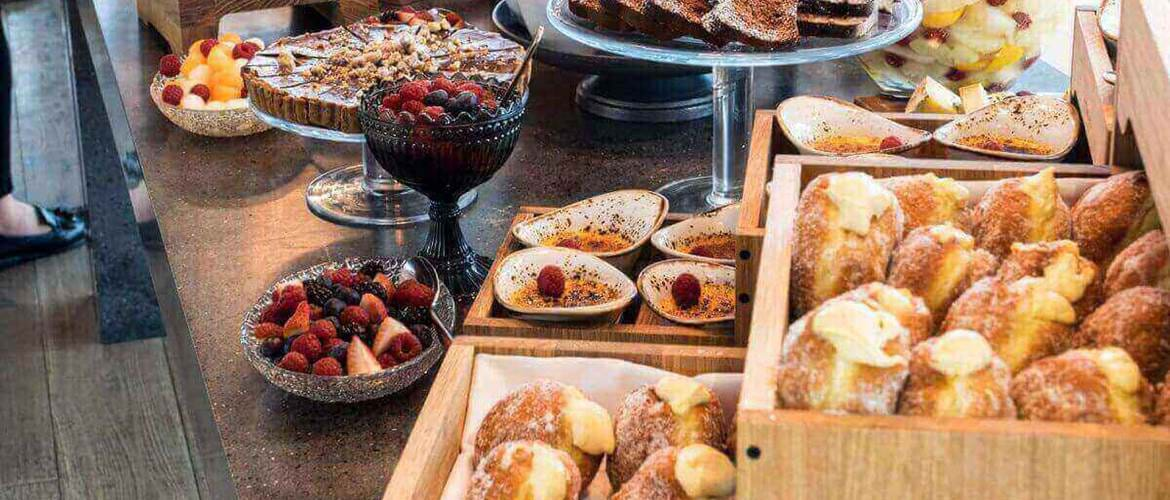 Brunch buffet at Darwin Brasserie at Sky Garden