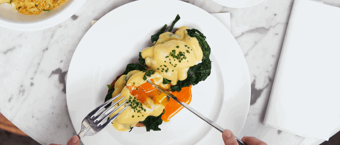 Eggs Benedict at Dean Street Townhouse
