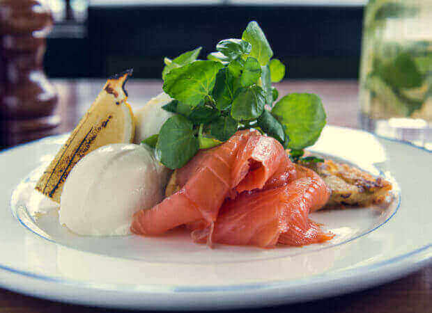 Foxlow Balham Soho and Clerkenwell Smoked Salmon and Poached Eggs on Toast, perfect for Bottomless Brunch