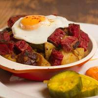 Salt Beef Hash at The Koffee Pot