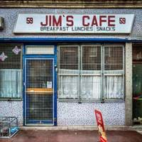 Outside Jim's Cafe