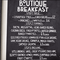 Boutique Breakfasts