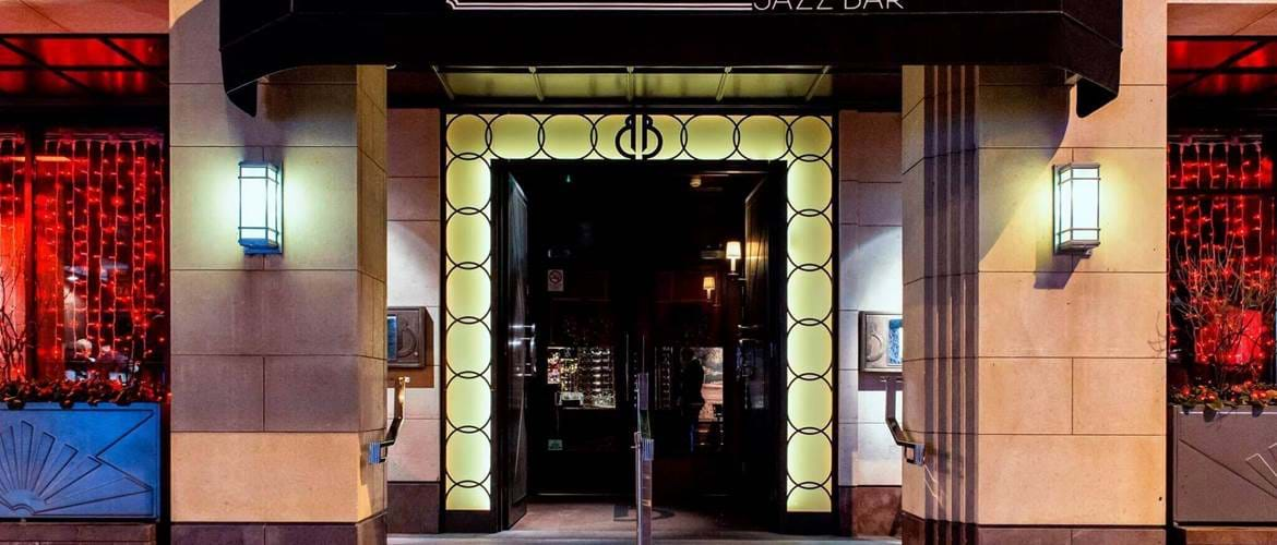 Entrance to Berts Jazz Bar