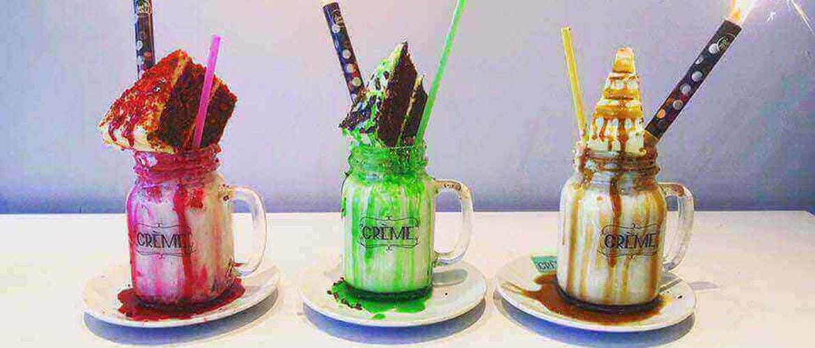 Milkshakes at Creme Cakes and Shakes