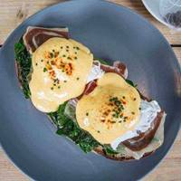 Eggs Benedict at Olive & Rye