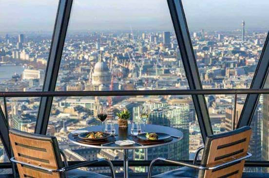 The View at Helix Restaurant at The Gherkin