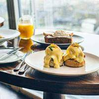 Eggs Benedict at Aqua Shard