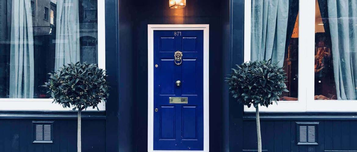 Entrance of The Little Blue Door