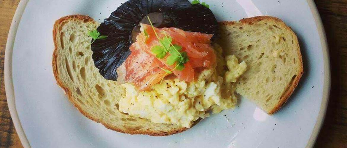 Smoked Salmon and Scrambled Eggs at Lockhouse
