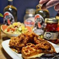 Chicken and Waffles at Absurd Bird