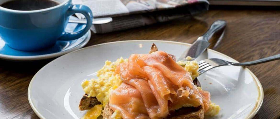 Smoked Salmon and Eggs at Brewers Inn