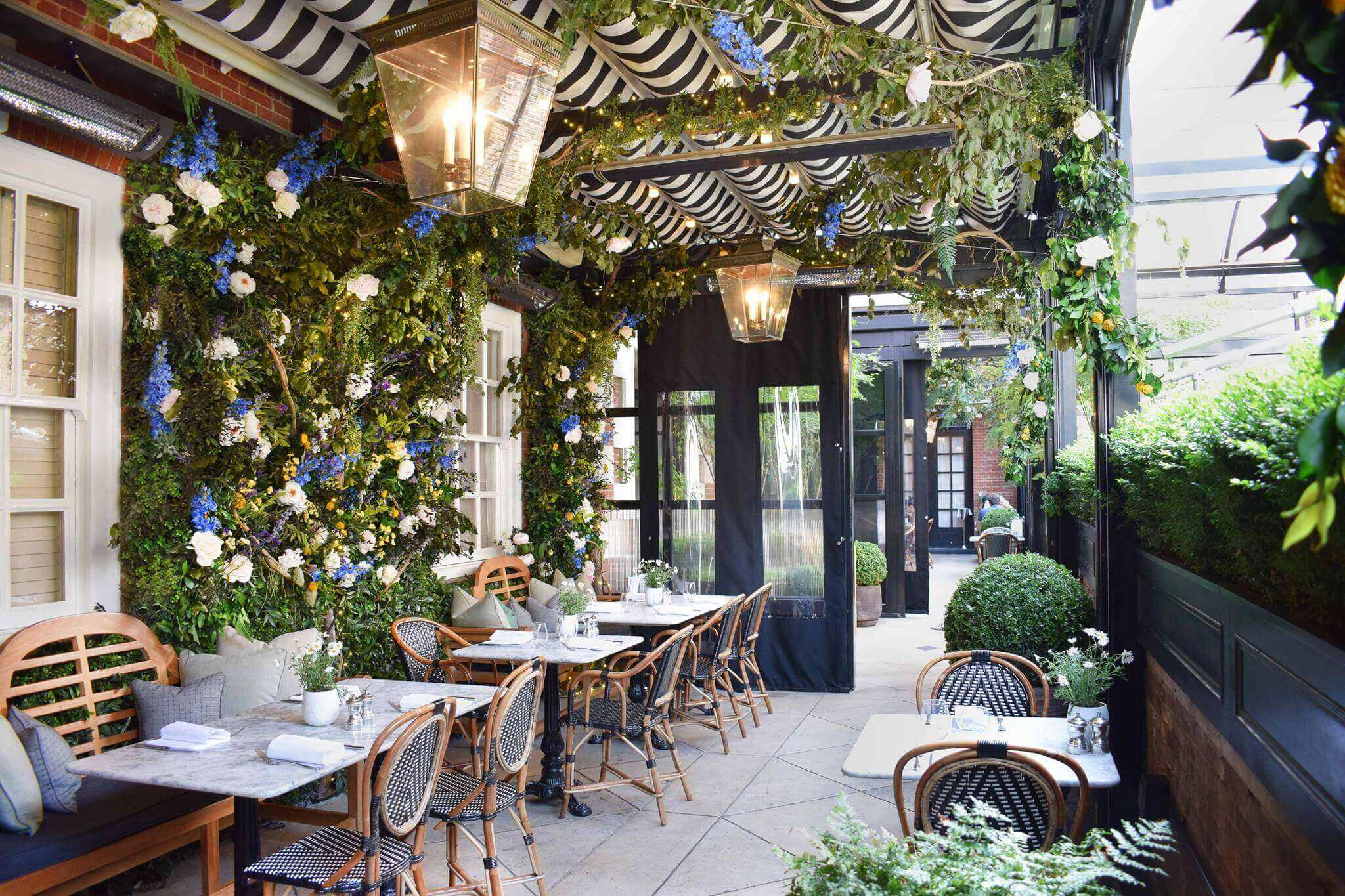 Outdoor Seating for Brunch at Dalloway Terrace