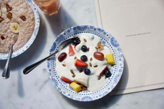 Fruit and Yoghurt at Dishoom
