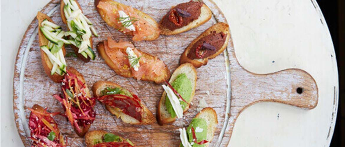 Crostini at No197 Chiswick Fire Station