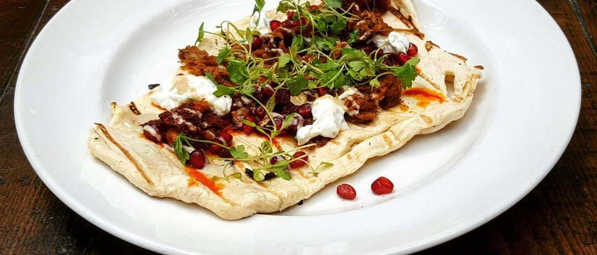 Flatbread at Balans Soho Society