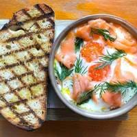 Smoked Salmon and Eggs at Bryn Williams at Somerset House