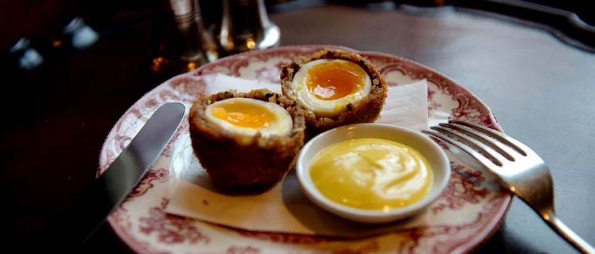 Scotch Eggs at Zetter Hotel