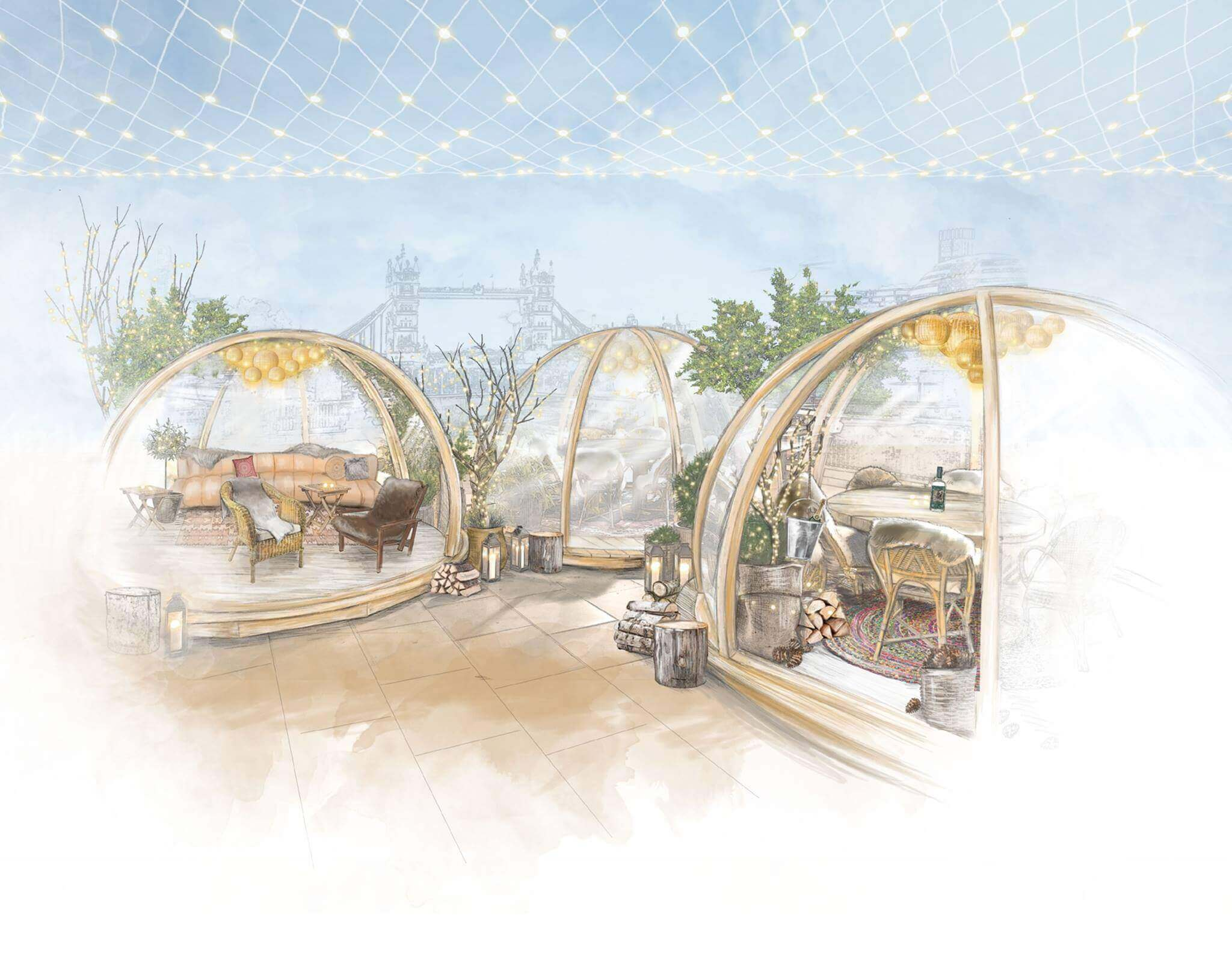 Drawing of the Igloos