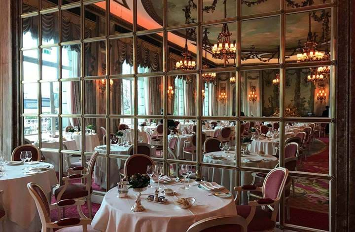 Dining at The Ritz