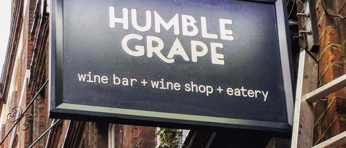 Signage at Humble Grape