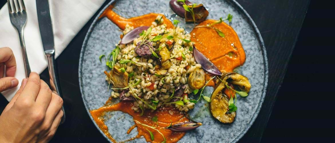Pearl Barley and Grilled Courgette at Gaucho Birmingham