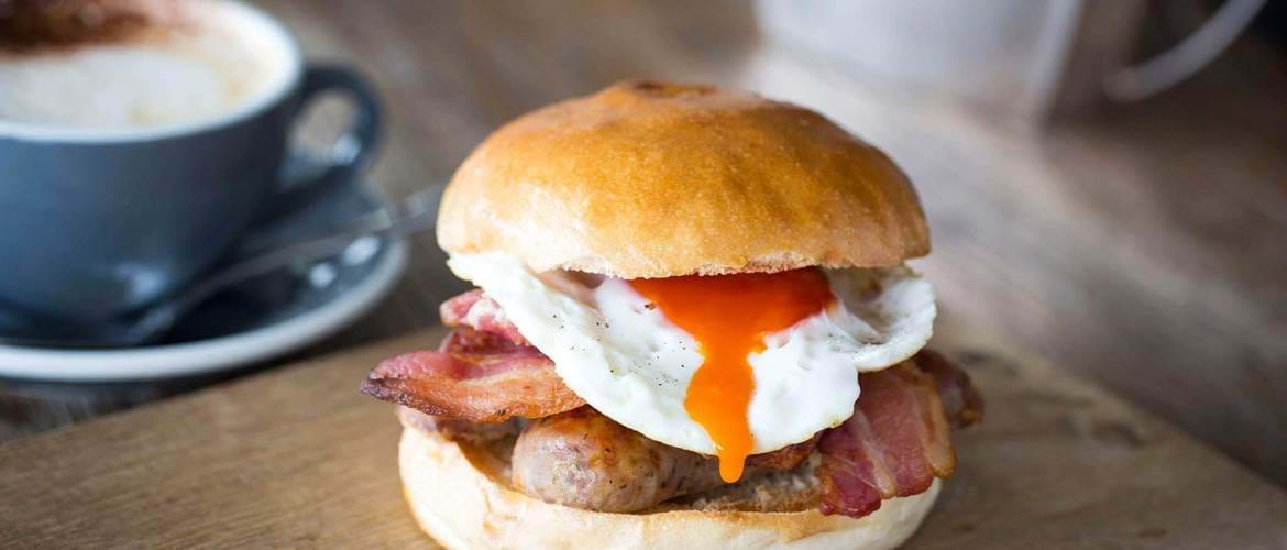 Breakfast Sandwich at Swan, Shakespeare's Globe - London