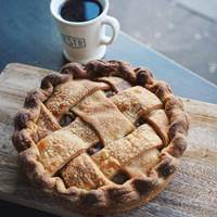 Brown Butter and Pear Pie at Established Coffee - Belfast