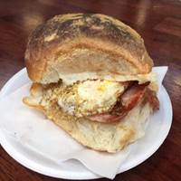 Breakfast Bap at George's of the Market - Belfast