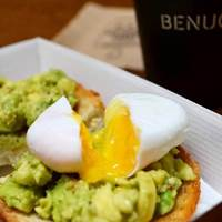 Poached Eggs and Avocado at Benugo Rooftop - Oxford