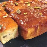 Apricot and Pistachio Cake at Alpha Bar - Oxford