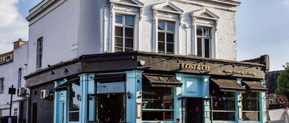 Exterior at Lost & Co Battersea