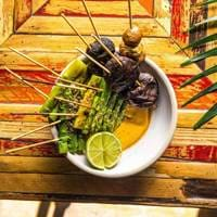 Veggie Skewers at Senor Ceviche