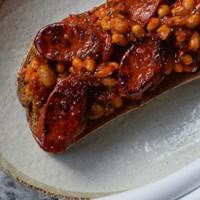 Chorizo and Beans on Toast at Plate Bake