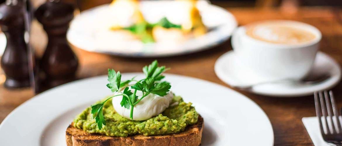 Avocado Toast at The Black Dog in Vauxhall