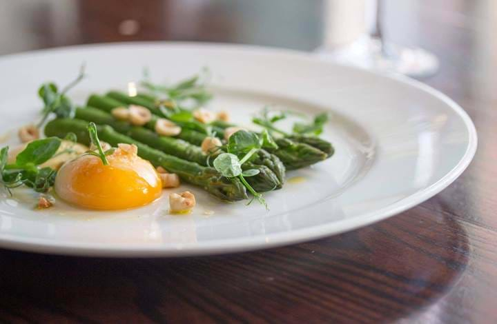 Asparagus and Eggs at Chiswell Street Dining Rooms