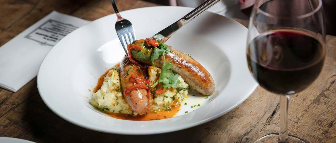Bangers and Mash  at The Boot and Flogger