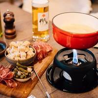 Fondue at The White Haus