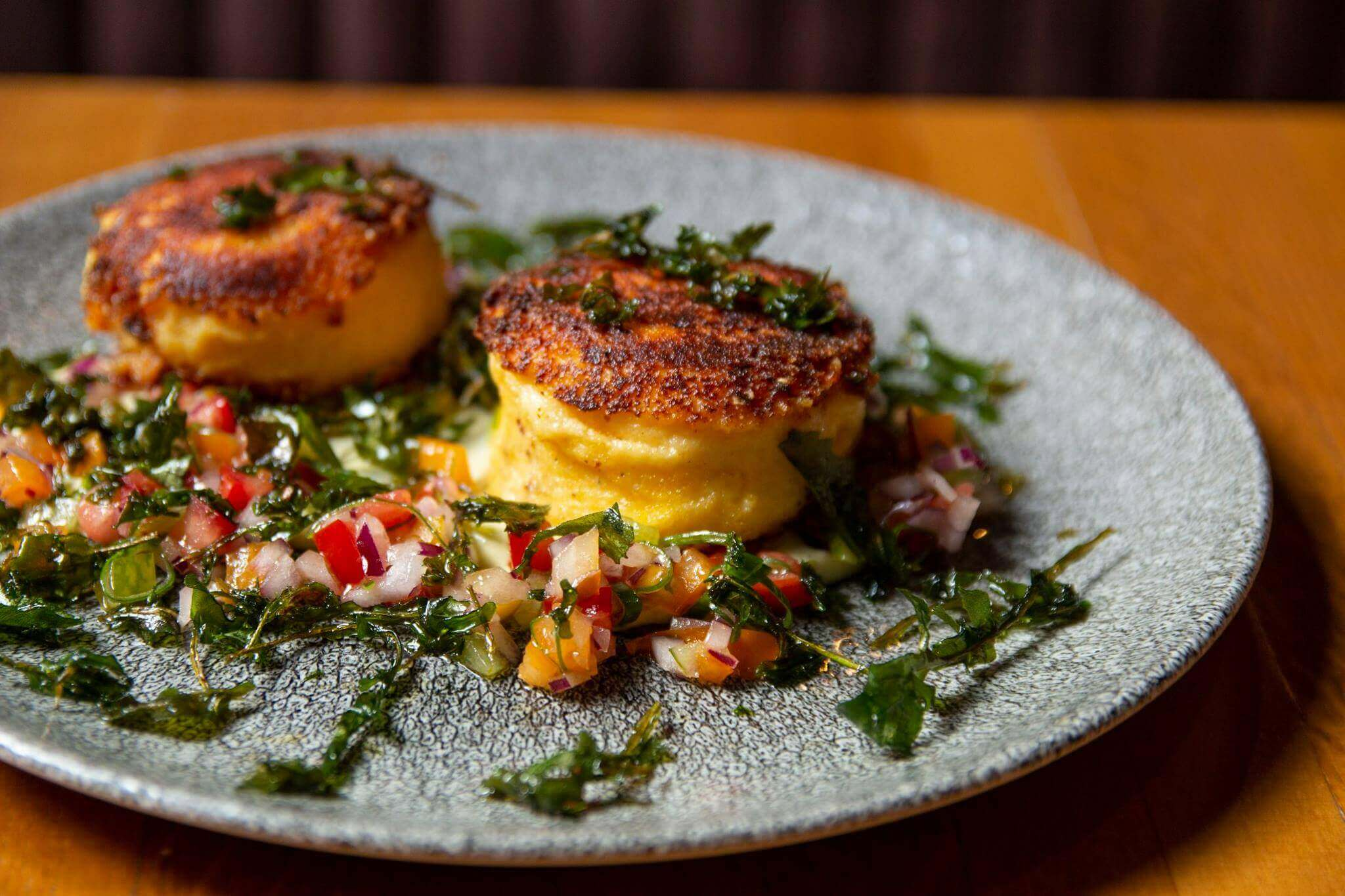 Polenta Cakes for Brunch at Cleaver East in Dublin