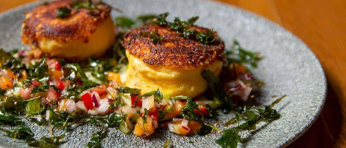 Polenta Cakes at Cleaver East, Dublin