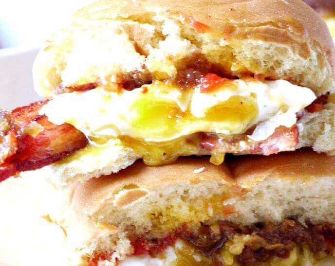 The Ultimate Bacon Sandwich for Chinese New Year Brunch, Year of the Pig breakfast